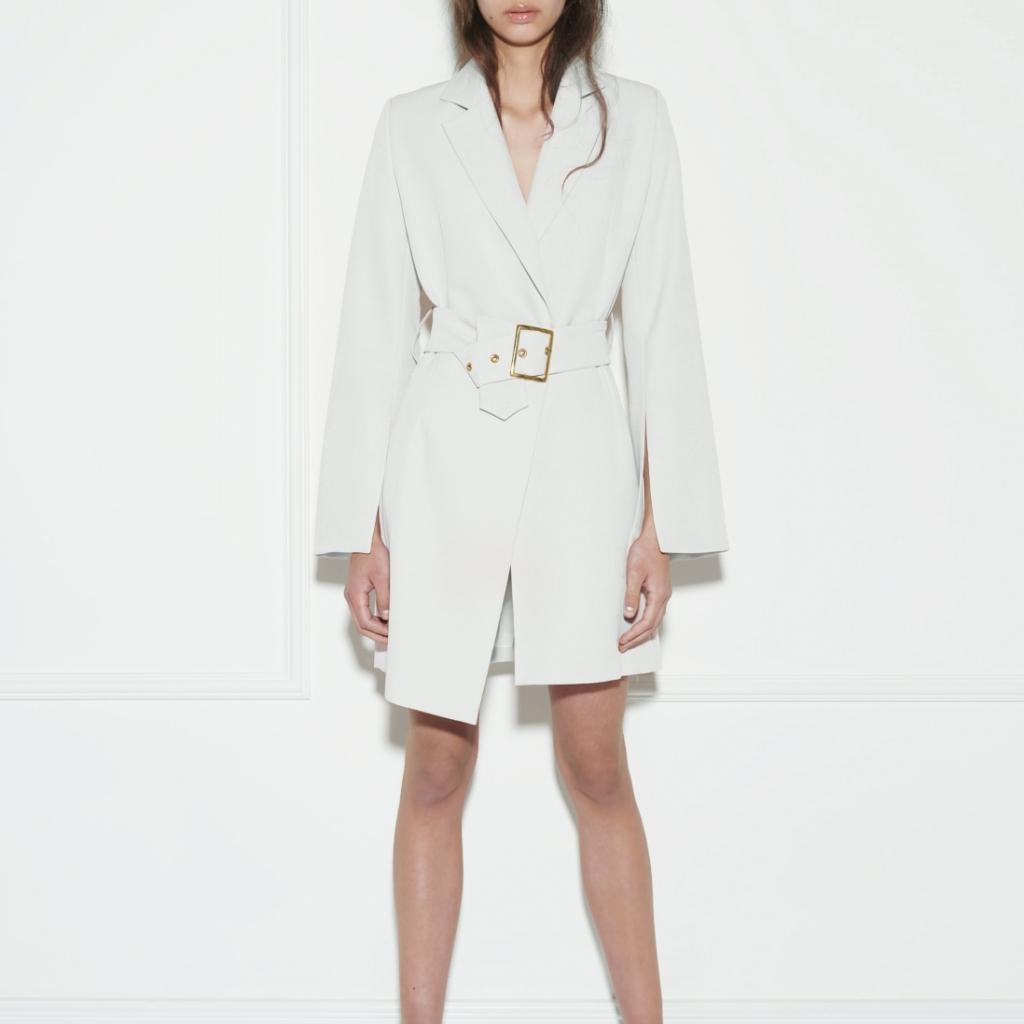 Sukienka Marynarkowa Biała Zaquad